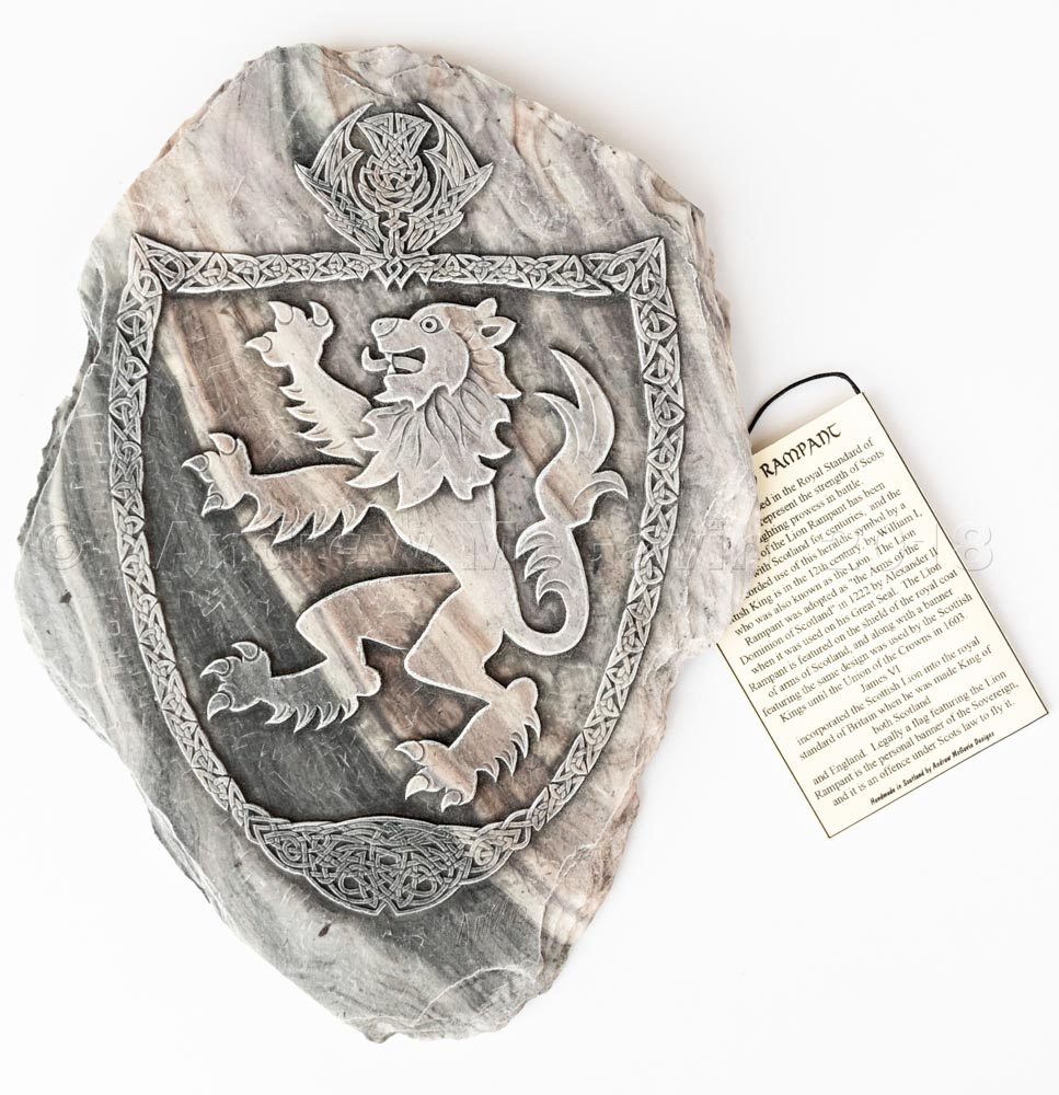 Lion Rampant Wall Plaque